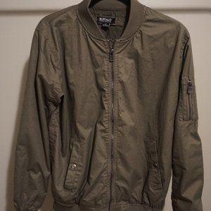 Buffalo David Bitton Bomber Jacket - Olive Green